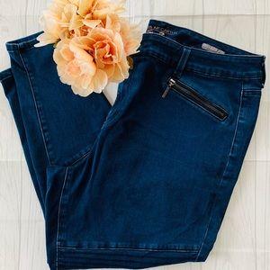 Melissa McCarthy Seven7 Pencil Moto Style Jeans